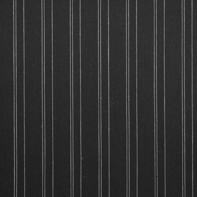 dark slate white pencil striped stretch cotton shirting 310892 11