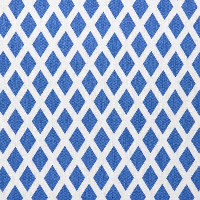 dazzling blue white geometric printed riviera pique 310956 11