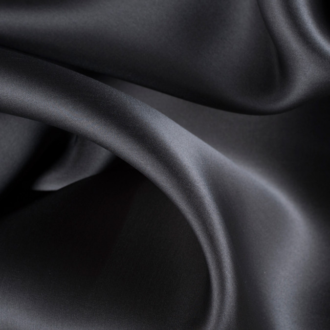 deep charcoal silk satin face organza pv4000 193 11