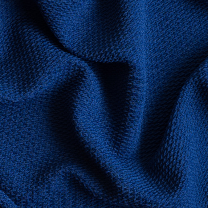 deep royal blue stretch polyester knit pique 309081 11