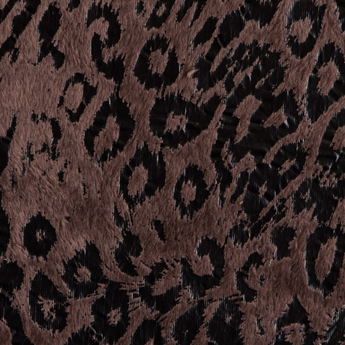 deep taupe leopard printed faux fur 309207 11