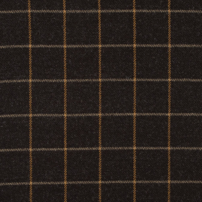 demitasse windowpane check wool twill 315303 11