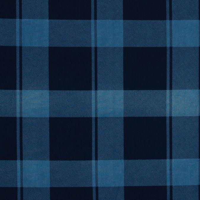 denim blue plaid japanese cotton shirting 318910 11