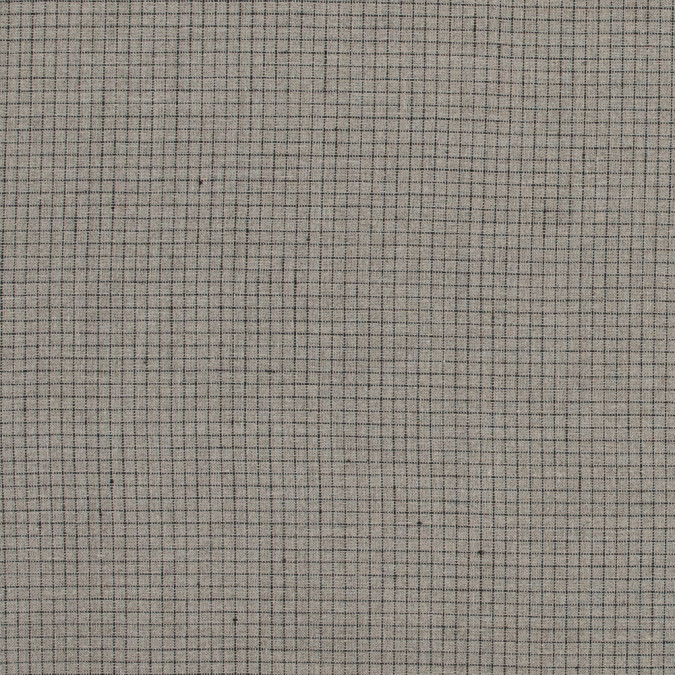 desert taupe and black graph check medium weight linen 317597 11
