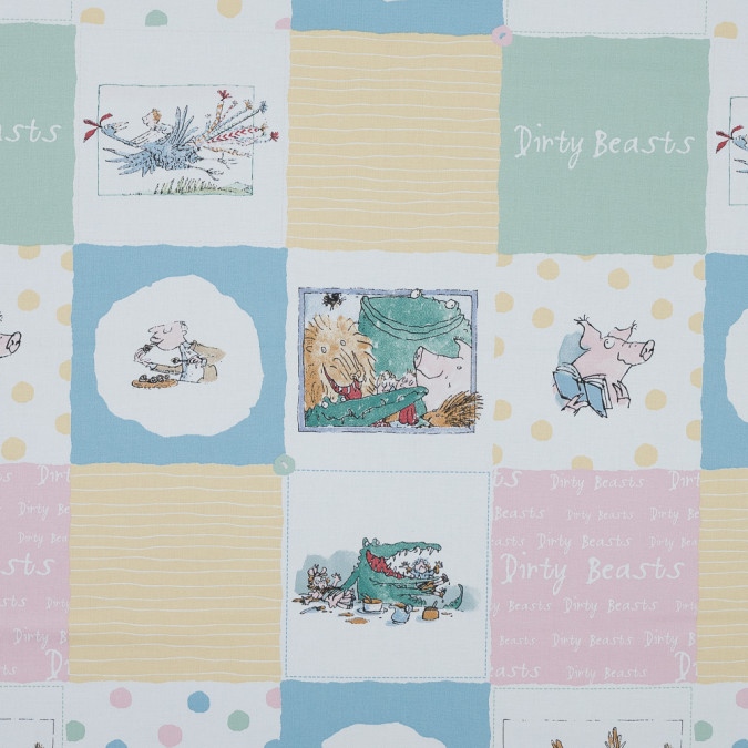 dirty beasts patchwork printed cotton canvas awg1002 11