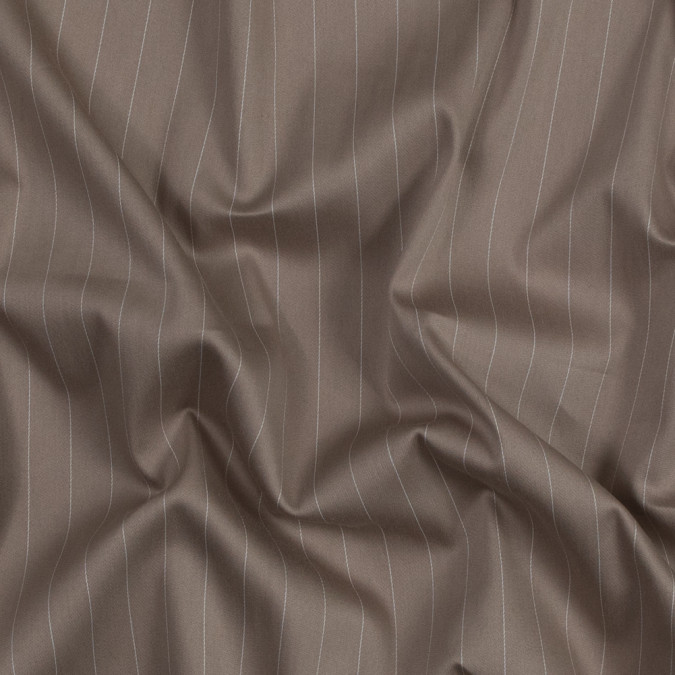 doeskin beige and white pinstriped stretch polyester twill 318934 11