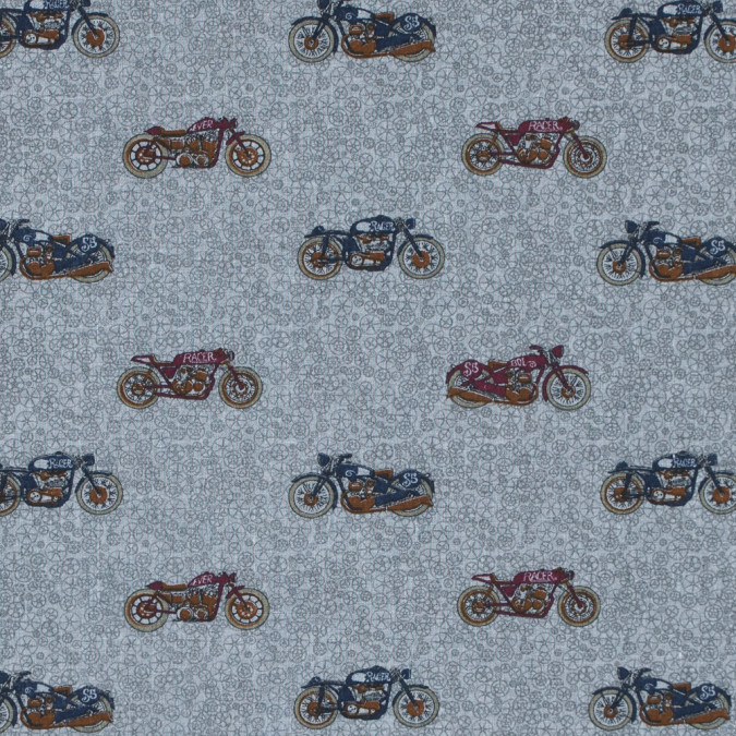 drizzle patriot blue and tibetan red motorcycle printed cotton blend 313993 11