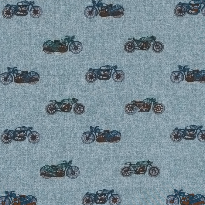 drizzle subtle green and monk s robe motorcycle printed cotton blend 313946 11