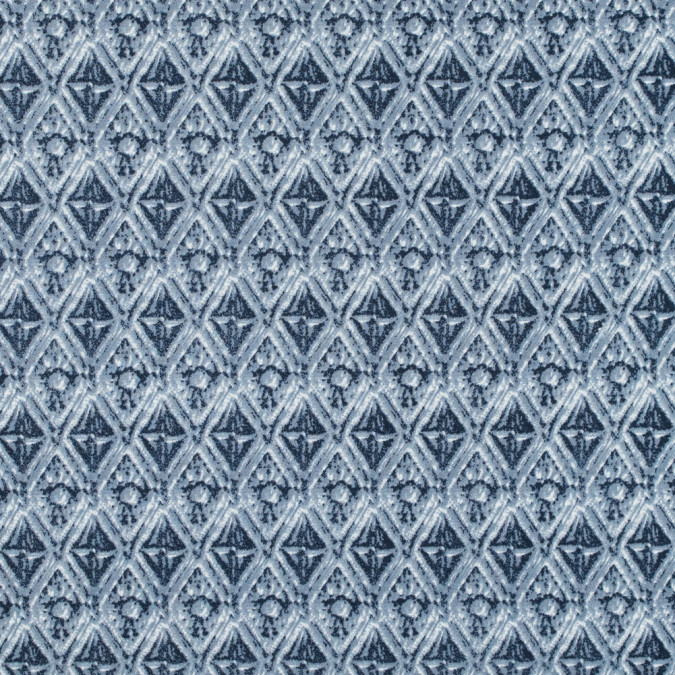 dusty blue diamond printed stretch cotton twill 314642 11