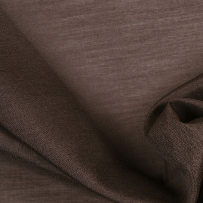 dusty brown silk cotton voile 302486 11