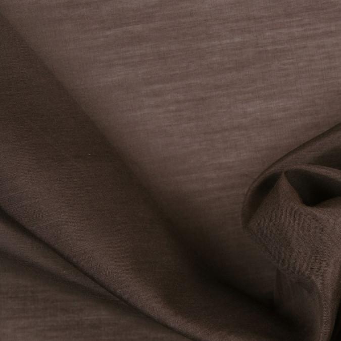 dusty brown silk cotton voile 302486 11