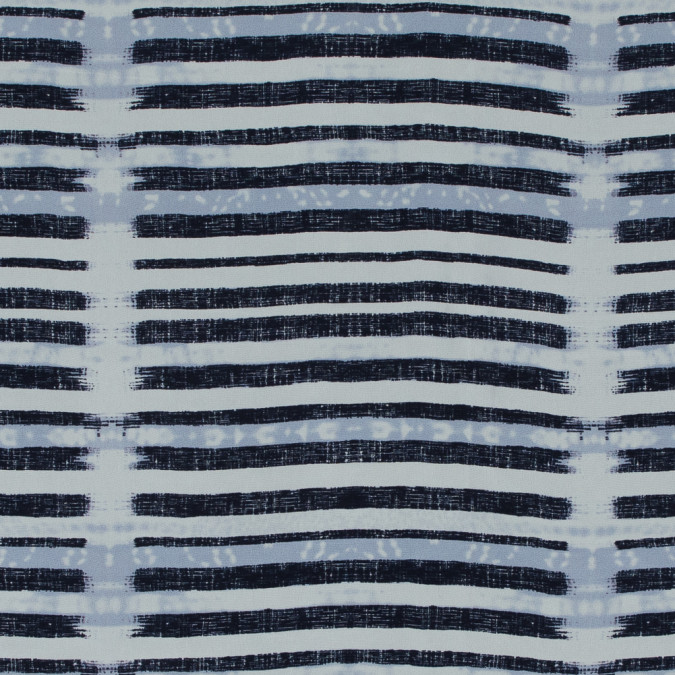 eclipse and white printed stripes on a silk crepe de chine 315429 11