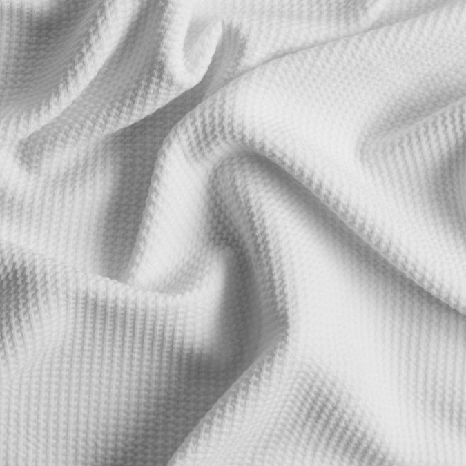 ecru stretch polyester knit pique 309080 11