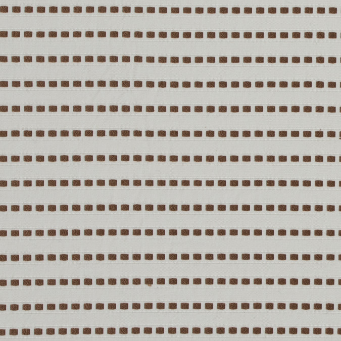 eggnog and toffee embroidered striped cotton woven 312324 11