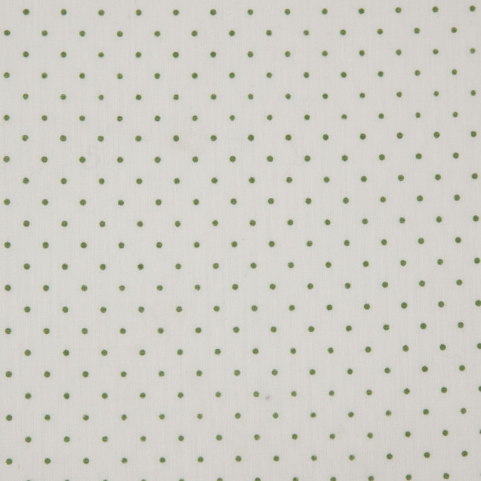 egret shamrock polka dotted cotton voile 310535 11