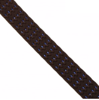 elastic 3 brown blue