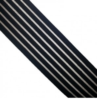 elastic band clear nylon striped black 130641