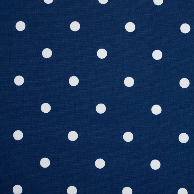 estate blue cotton canvas polka dots 106644 11