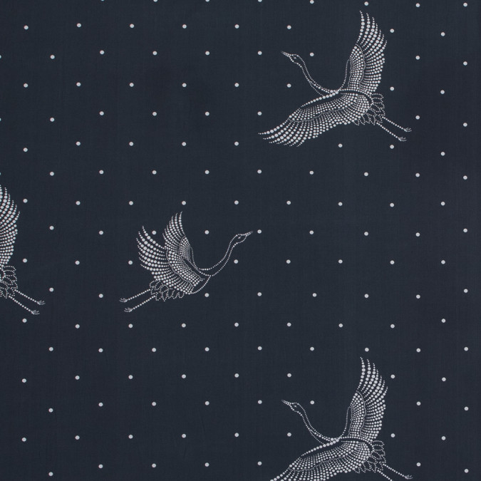 european black and white constellation cranes cotton poplin 119350 11