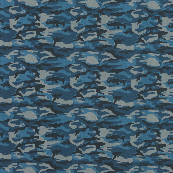 european blue and gray camouflage cotton poplin 119303 11