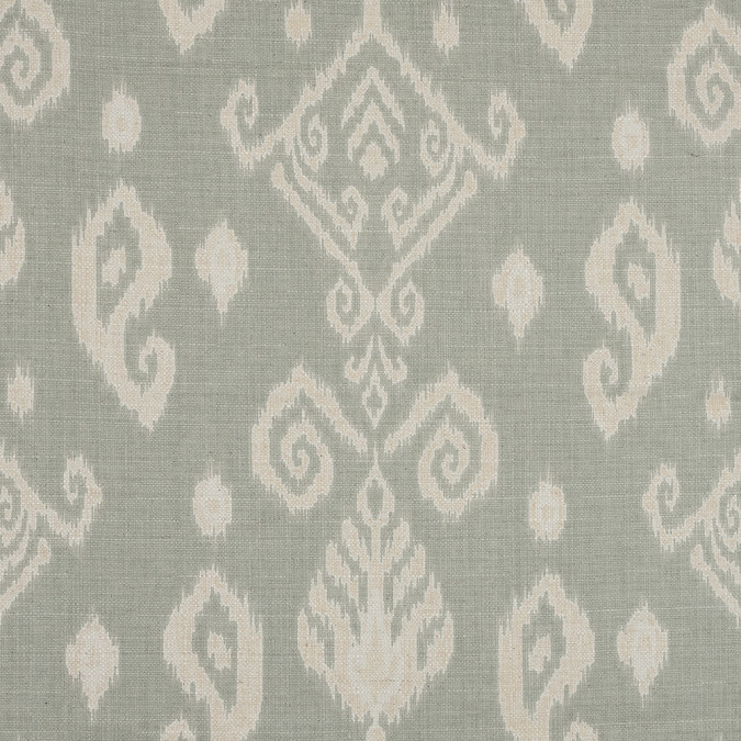 european mint ikat printed blended cotton canvas 103838 11
