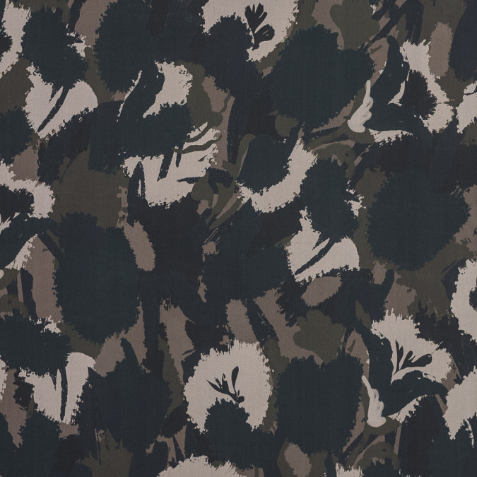 european spruce green and beige camouflage cotton poplin 119304 11