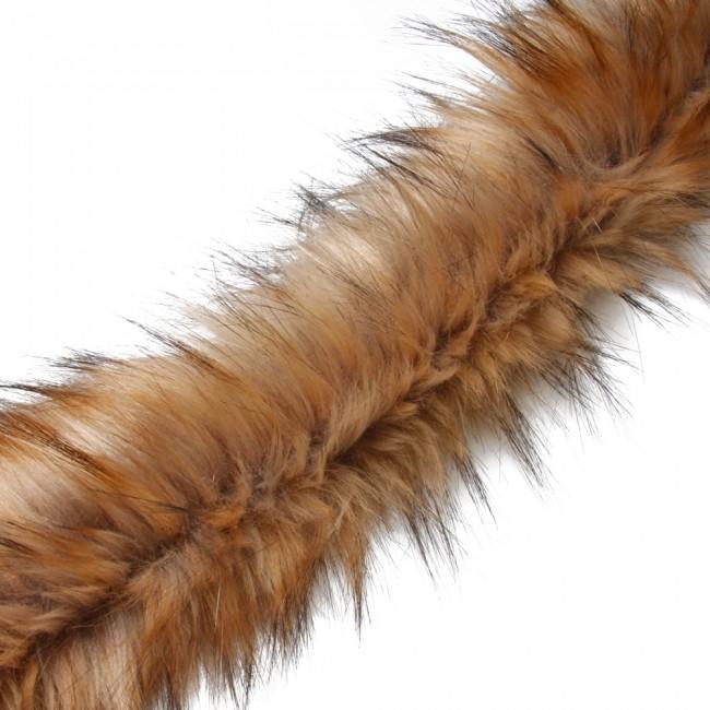 fake fur trim brown1