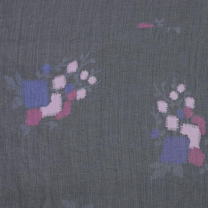 famous designer black floral silk chiffon 304415 11