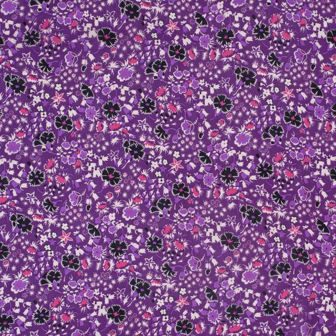 famous designer bright violet retro floral silk chiffon print 302901 11