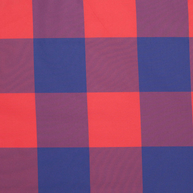 famous designer red blue big checked polyester taffeta 304684 11