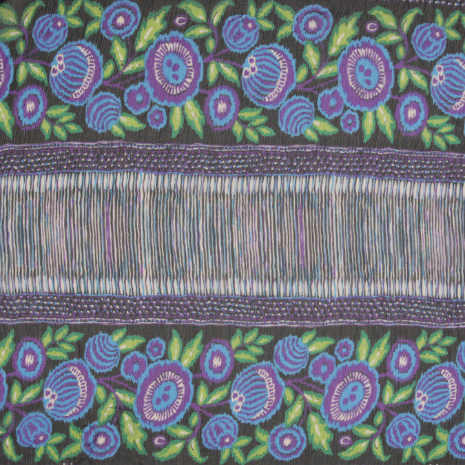 famous designer silk chiffon floral panel print 304631 11