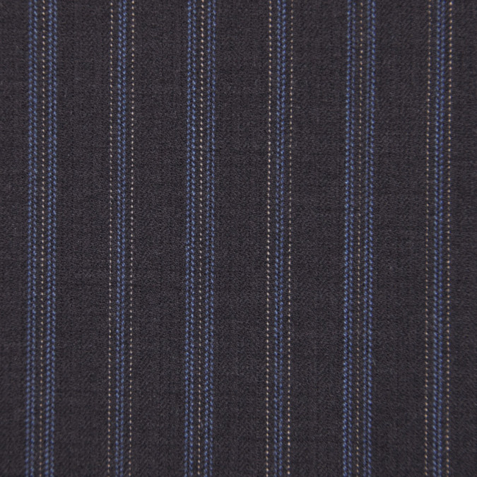 famous designer striped herringbone italian wool suiting fw11121 11