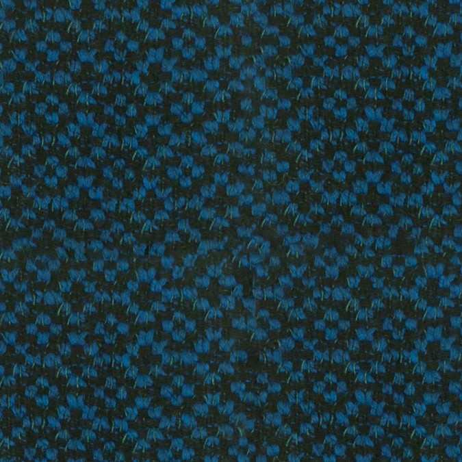 famous ny designer brilliant blue wool polyester boucle 305792 11