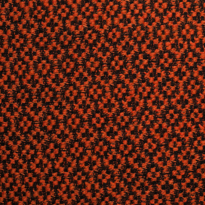 famous ny designer burnt ochre wool polyester boucle 305782 11