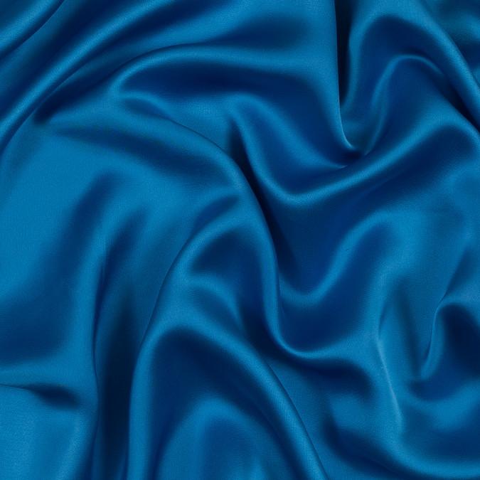 famous nyc designer azure blue viscose satin 319081 11