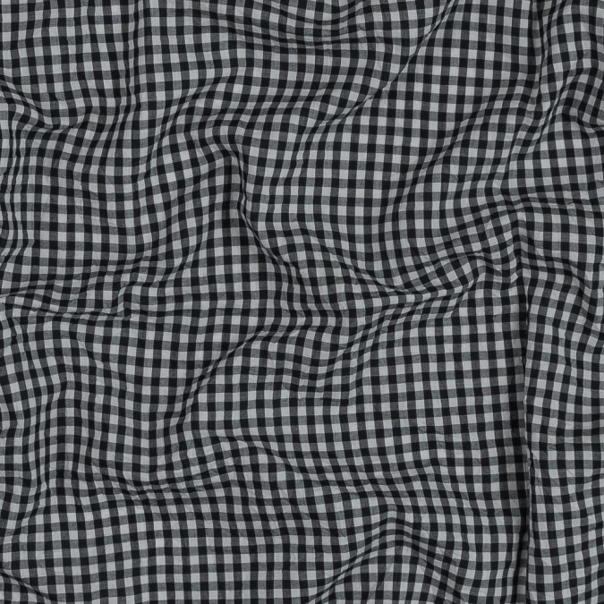 famous nyc designer black and white crushed gingham cotton woven 318814 11