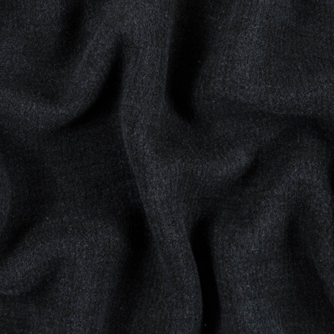famous nyc designer black boiled cashmere double cloth 310369 11
