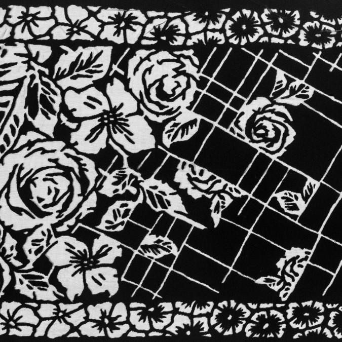 famous nyc designer black floral silk and rayon burnout velvet 319285 11
