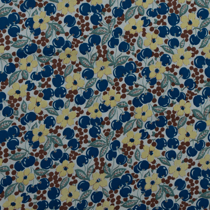 famous nyc designer blueberries and floral printed silk chiffon 314823 11