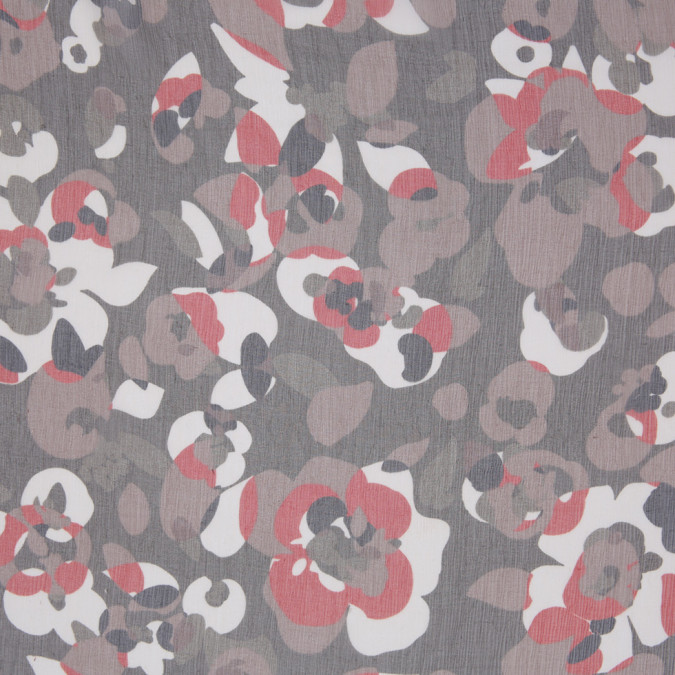 famous nyc designer brown red abstract crinkled silk chiffon 306887 11