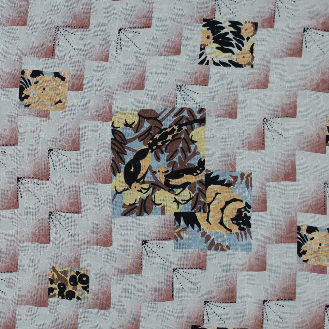 famous nyc designer cloud cream and brick dust printed silk woven 314087 11
