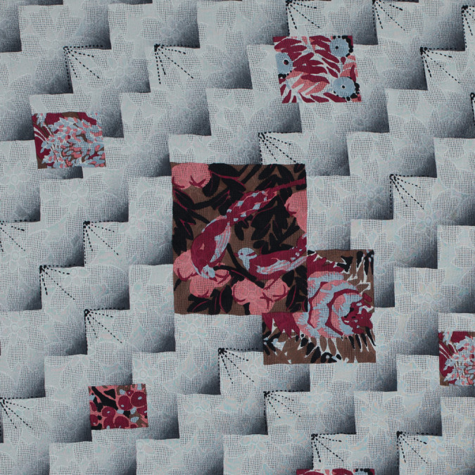 famous nyc designer cloud cream and castle rock printed silk woven 314086 11