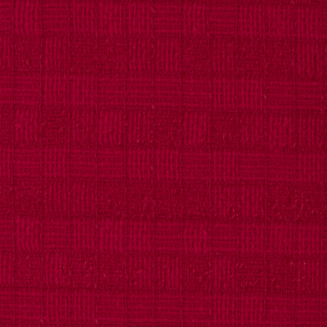 famous nyc designer crimson red checkered woven wool coating 315586 11