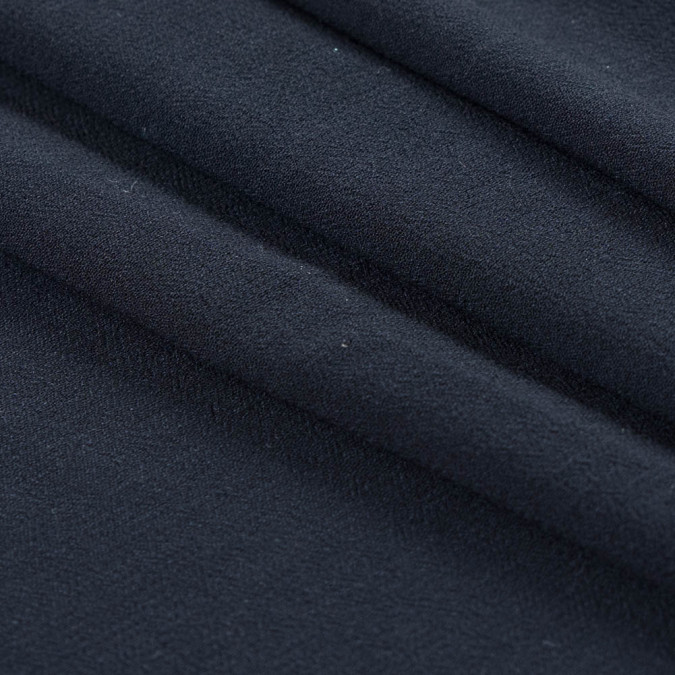 famous nyc designer dark blue gray rayon crepe 313420 11