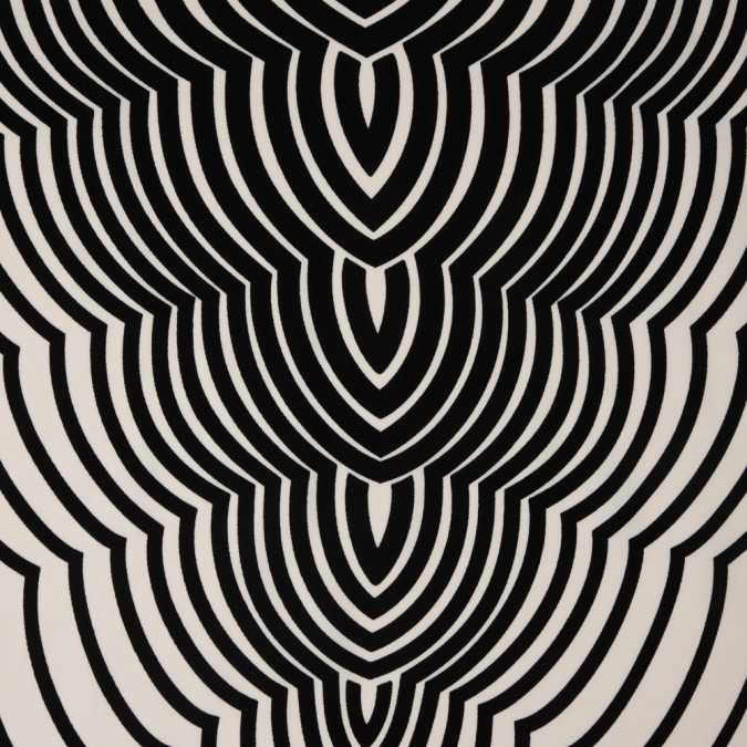famous nyc designer gardenia and black abstract polyester panel 310522 11