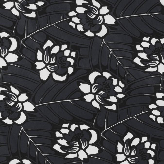 famous nyc designer gray floral viscose taffeta 310392 11
