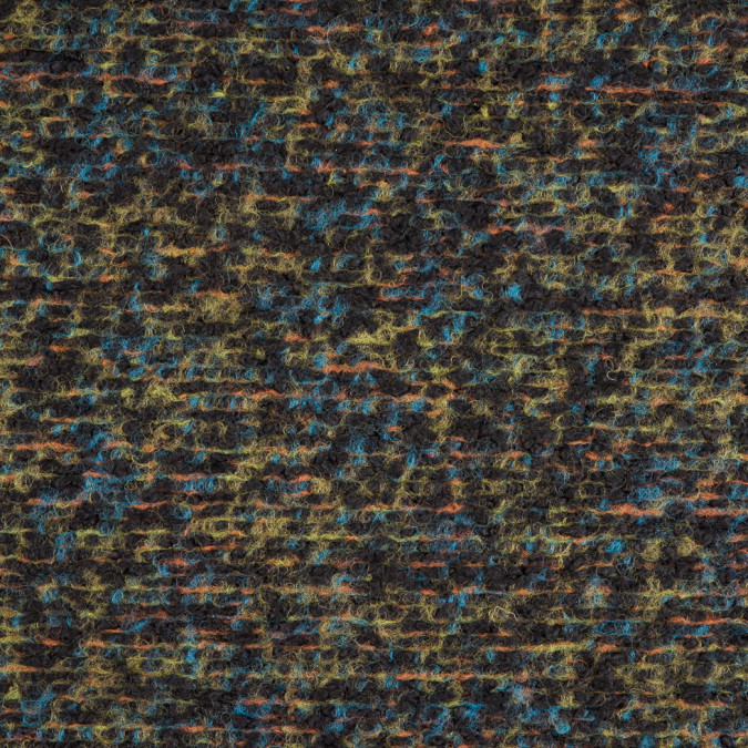 famous nyc designer green black blue tweed knit wool coating 310083 11