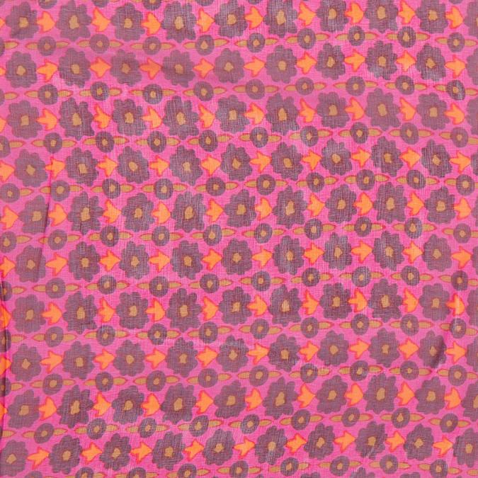 famous nyc designer magenta mini floral silk chiffon 302981 11