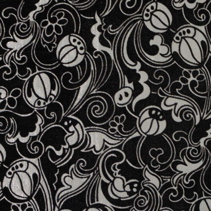 famous nyc designer metallic striped floral printed silk and rayon burnout velvet 319282 11