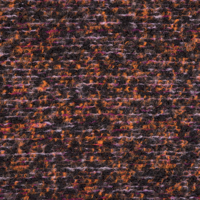 famous nyc designer orange black purple tweed knit wool coating 310084 11
